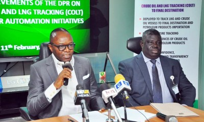 Honourable Minister of State, Petroleum Resources, Dr. Emmanuel Ibe Kachikwu and Mr. Mordecai Ladan, Director of Petroleum Resources DPR at the Ministerial briefing on Achievements of DPR and Key Policies of Government in Lagos.