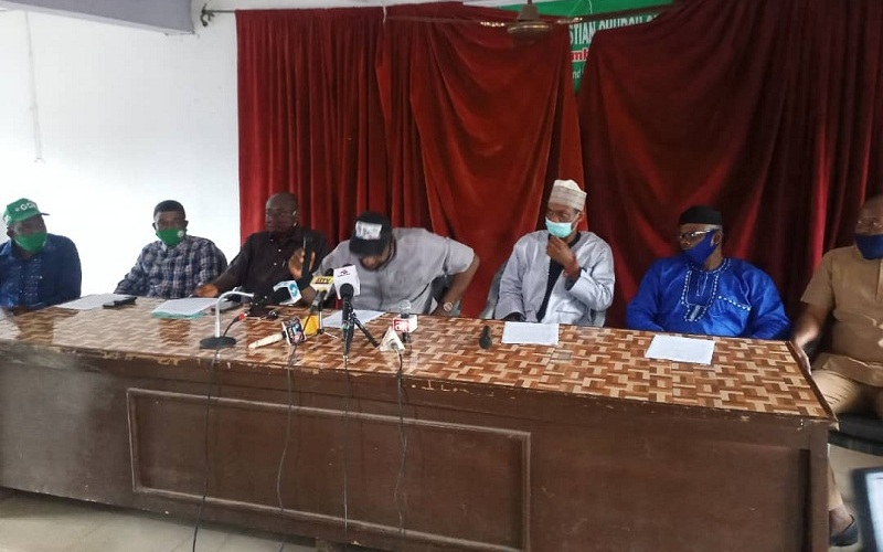 PDP leaders in Akoko-Edo Local Government Area addressing the Press
