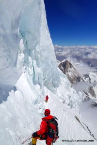 The Traverse on K2 near 28,000'