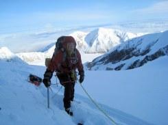 Alan and his sled climbing Denali