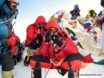 Alan on Everest summit May 21, 2011