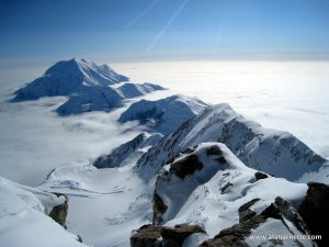 Denali 16,000' ridge. Alan climbed this to reach High Camp
