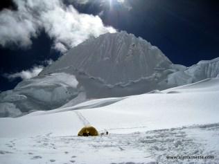 High Camp on Alpamayo