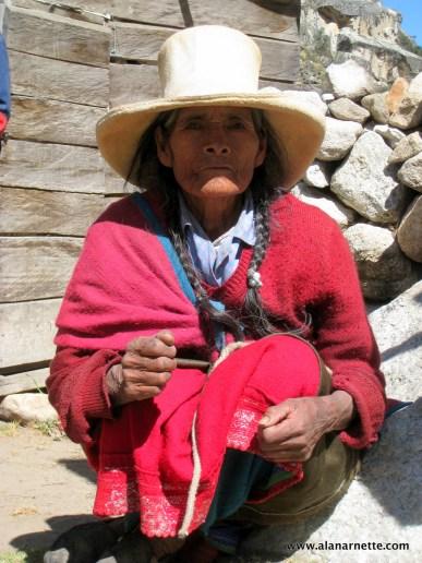 Chilean woman near Alpamayo