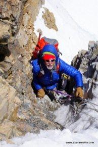 Alan climbing House Chimney on K2