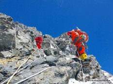 Alan climbing Black Pyramid on K2