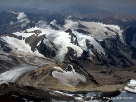 View from high camp on Aconcagua