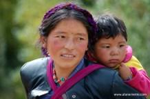 Tibetan Woman with child