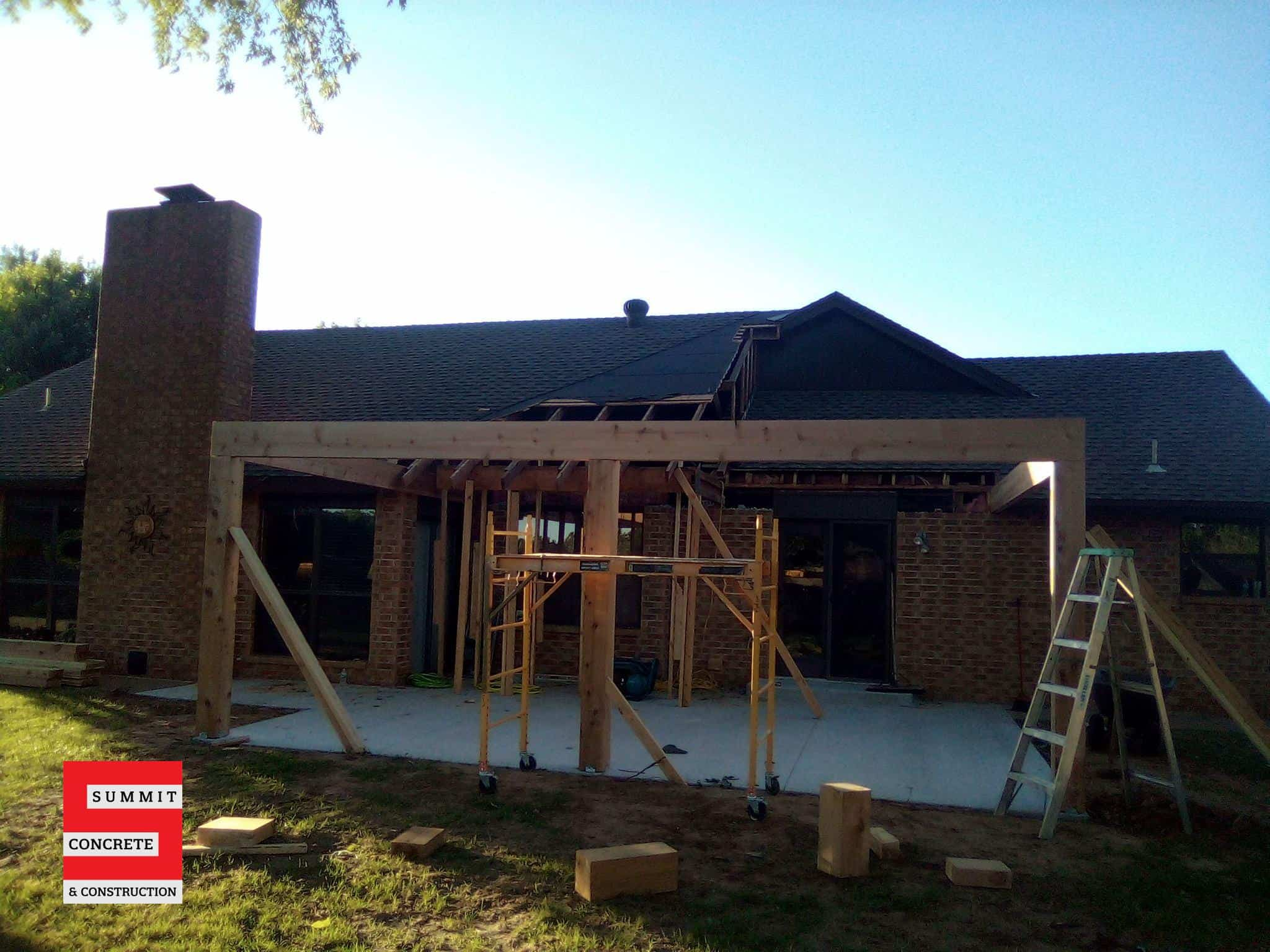 Custom Cedar Patio with Cathedral Ceiling Ponca City OK Summer 2020 3