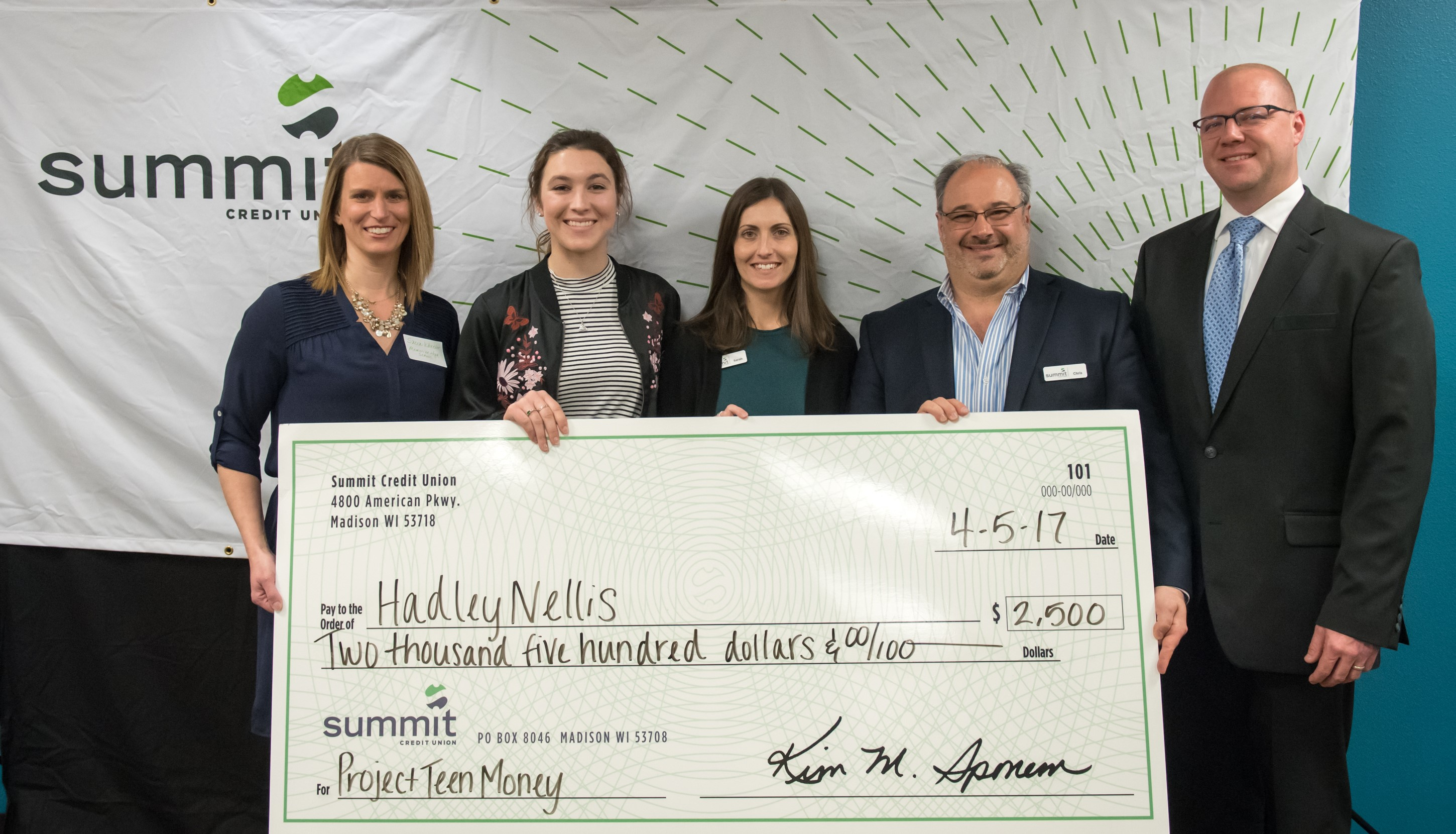 Summit Credit Union Awards Local Student 2 500 With