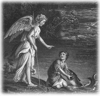 Archangel Raphael and Tobit by Dore