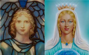 Archangel Gabriel and Mother Mary