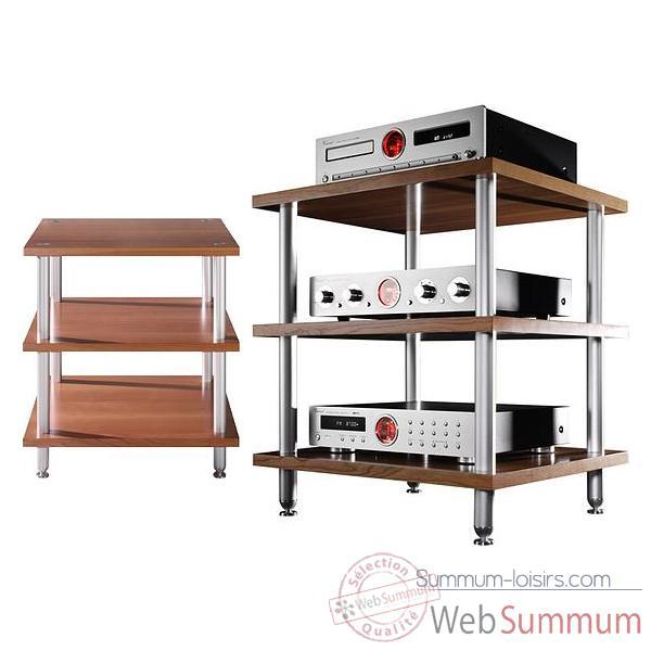 meuble audio video vincent wood h3 3 etageres bois 203791 de vincent