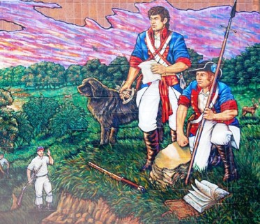 A Portion Of Lewis Clark Mural Painted By Liberty Artist David McClain Located On The Side Clay County Detention Center