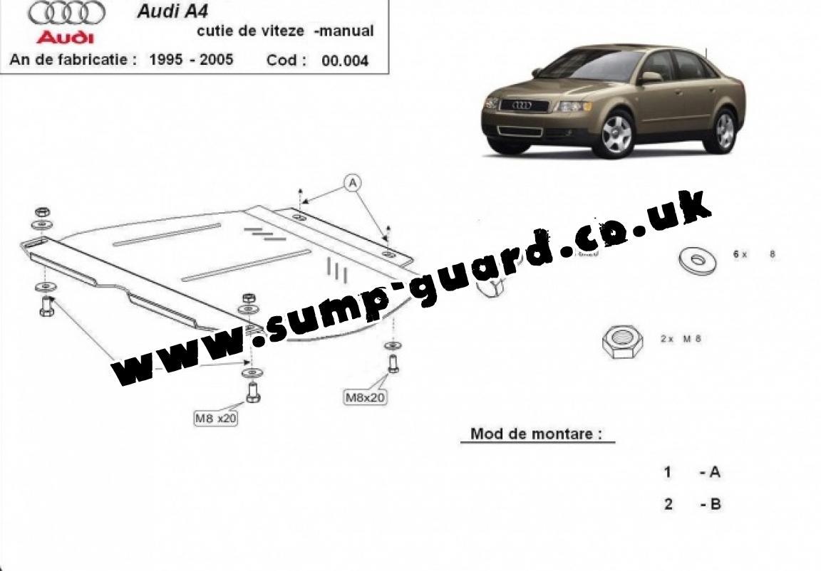 Steel Manual Gearbox Guard Audi A4 2
