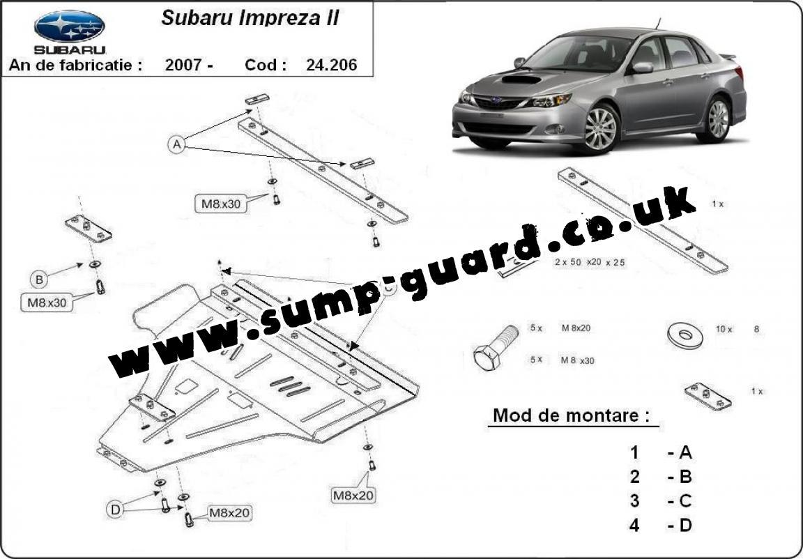 Steel Sump Guard For Subaru Impreza Petrol