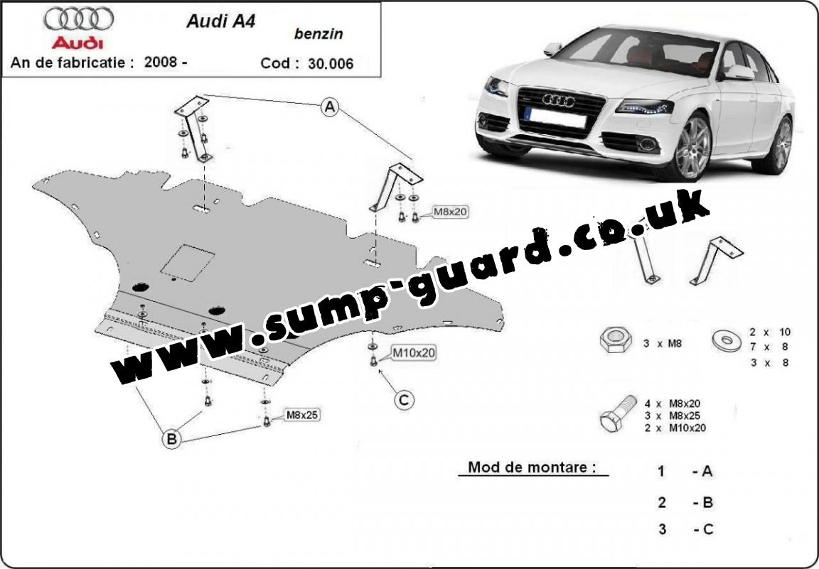 Steel Sump Guard For Audi A4 4 Petrol