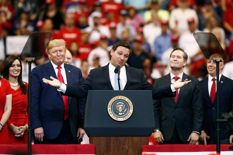 Gov. Ron DeSantis gushed over the money President Donald Trump would raise  for the Florida Republican Party. - South Florida Sun-Sentinel