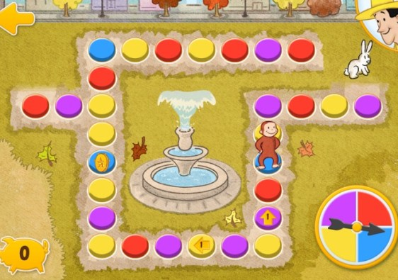 Curious George's Town app games