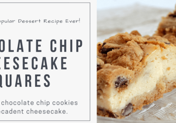 Chocolate Chip Cheesecake Squares Recipe