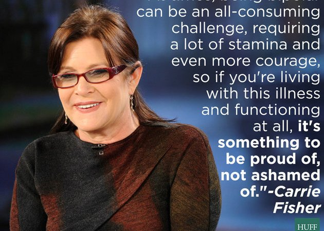Carrie Fisher bipolar quote