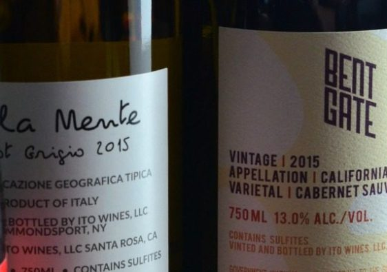 Each bottle of wine has a QR code that has information on pairing and taste