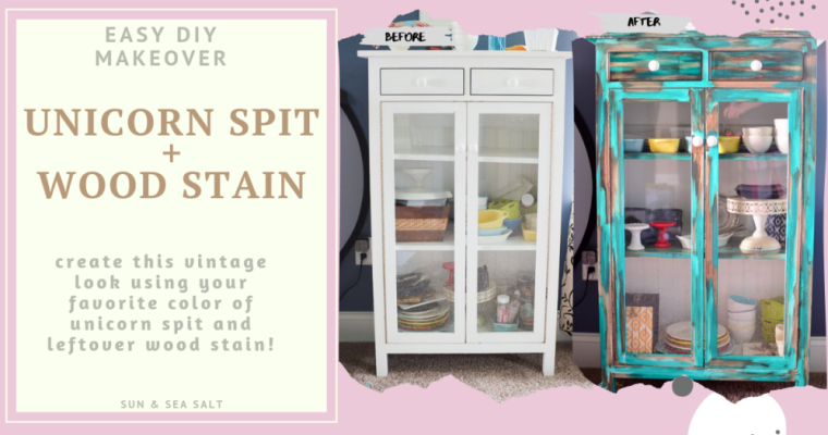 Vintage Cabinet Makeover With Unicorn Spit and Wood Stain