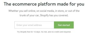 shopify first step