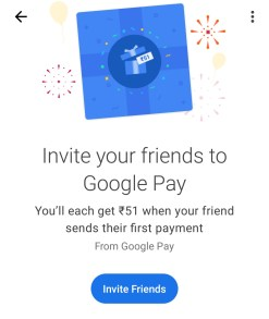 Google Pay Mobile App Earn Rs  51 Refer and Earn Free Money Upto Rs