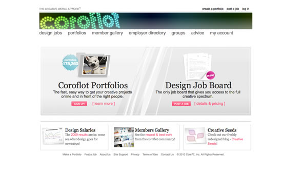 Coroflot website