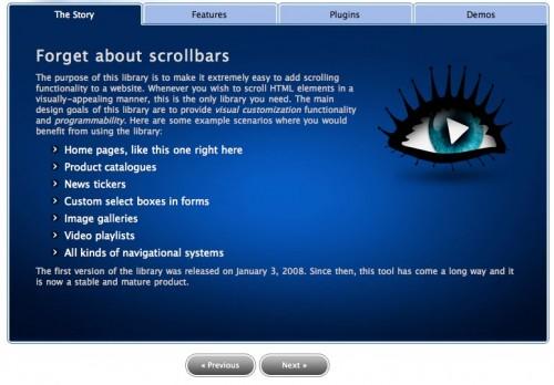 Scrollable screenshot