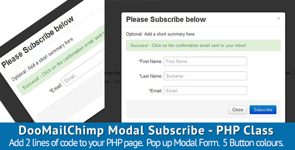 DooMailChimp Modal Subscribe