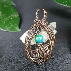 Chrysocolla-Pendant Chrysocollajewelry Copperjewelry