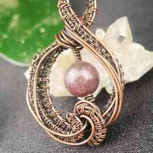 Lepidolitependant SunayLaLuna Semipreciousstonejewelry