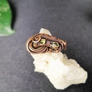 sunaylaluna-olivine-ring-semipreciousstonesjewelry-olivinejewelry