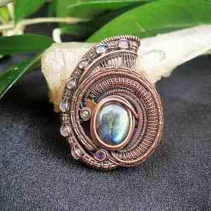 Labradorite-Medallion Jewelrydesign SunayLaLuna
