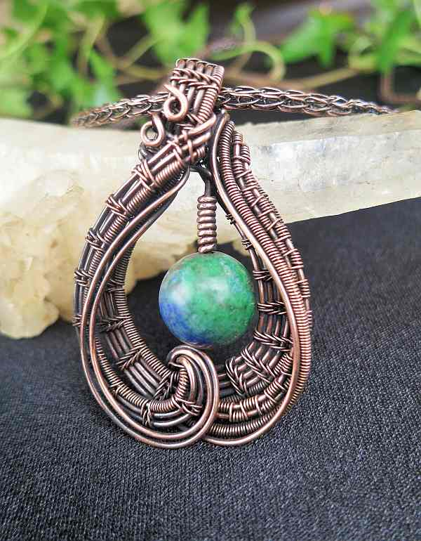 AzuritePendant Jewelrydesign SunayLaLuna