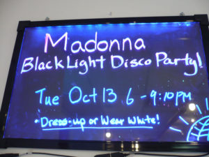 Madonna Black Light Disco Party at Sunberry Fitness