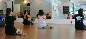 Adele Kim teaching K-Pop at Sunberry Fitness