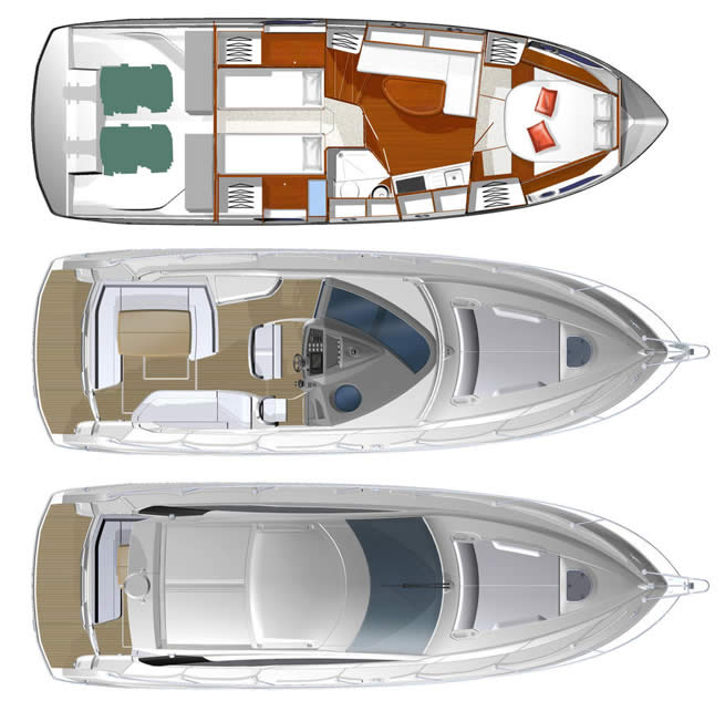 Beneteau Gran Turismo 38 Motorboat Cruiser For Sale At