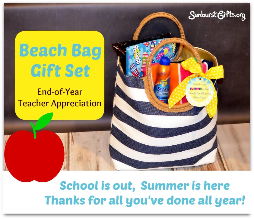 Teacher Appreciation Beach Bag Gift Set Thoughtful Gifts