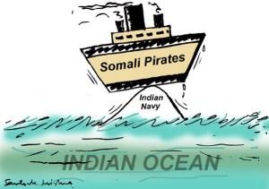 A cartoon regarding Indian Navy's highly successful anti-piracy operations (Cartoon courtesy: toonwala.blogspot.com)