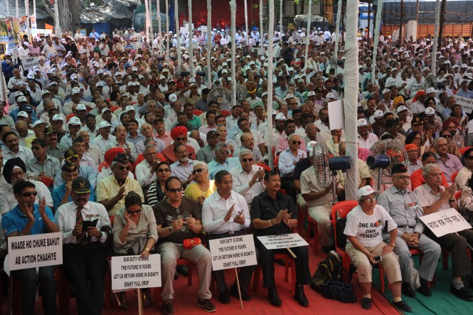 An orderly conduct of an OROP Rally! Even agitation has to be done in 'disciplined manner!