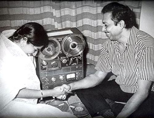 "Lata ji with her ""Madan bhaiyya"""