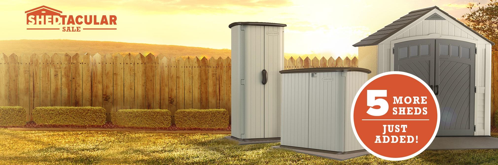 suncast backyard oasis storage and entertaining station - home
