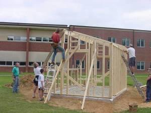 A team helps build the first SunCatcher