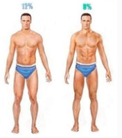roughly 10 percent bodyfat