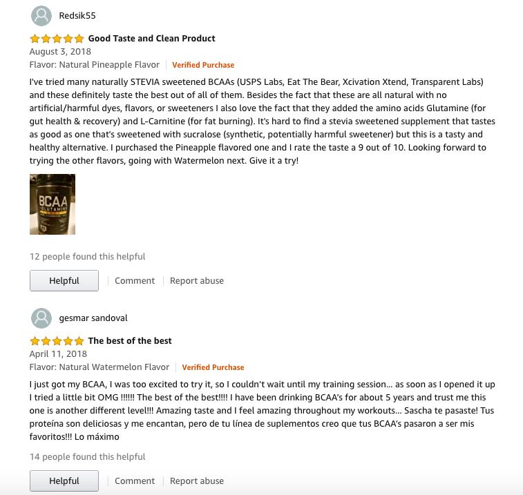 reviews of sascha fitness bcaa