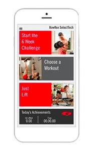 bowflex select-tech app