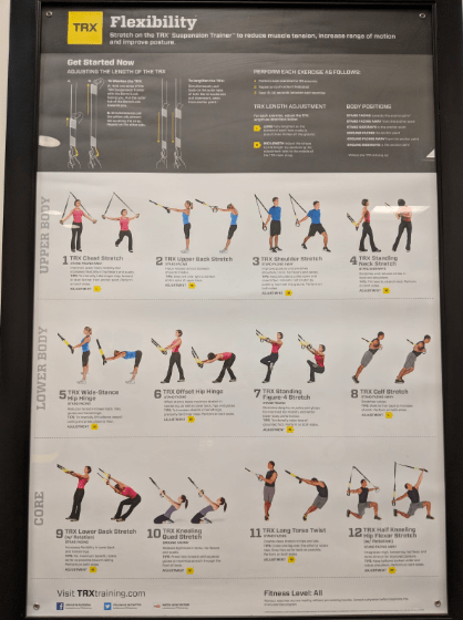 flexibility movements with trx
